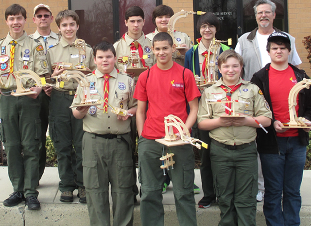 Boy Scouts Group of fluid power kit participants
